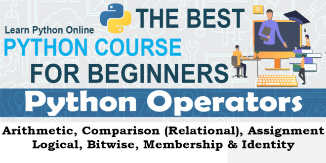 Python Basic Operators - Arithmetic, Comparison (Relational), Assignment, Logical, Bitwise, Membership & Identity