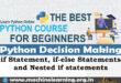 Python Decision Making - if-else statement