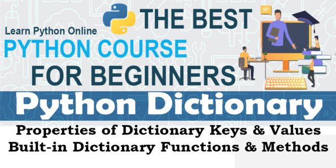 Python Dictionary - Properties of Dictionary Keys & Values Built-in Dictionary Func