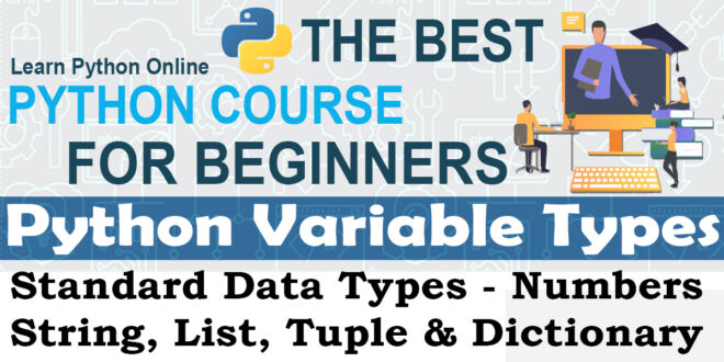 Python Variable Types - Standard Data Types Numbers String list tuples and Dictionary